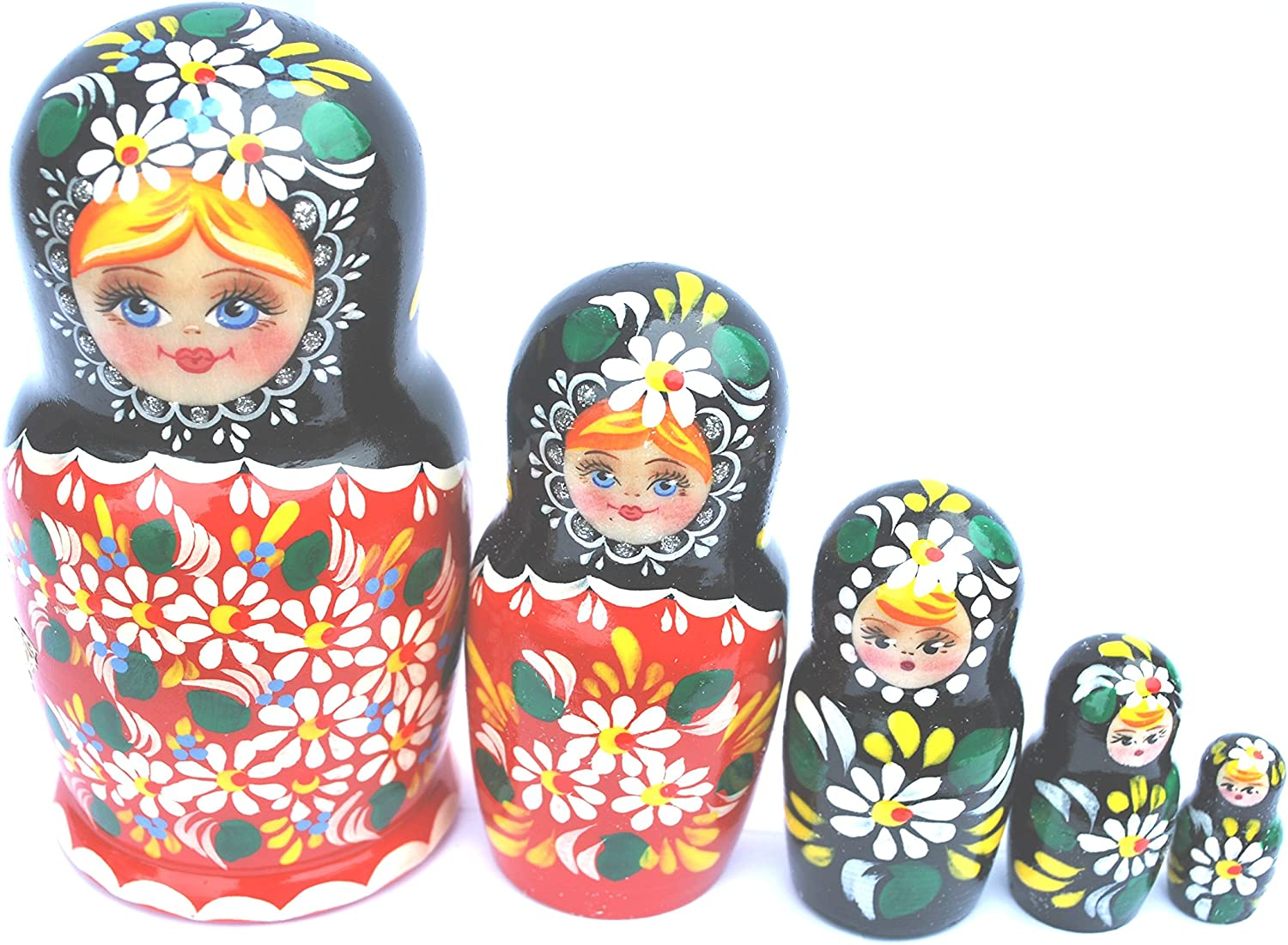 Artist signed Russian Hand Painted Silver Nesting Dolls Set of 10 5.5/""