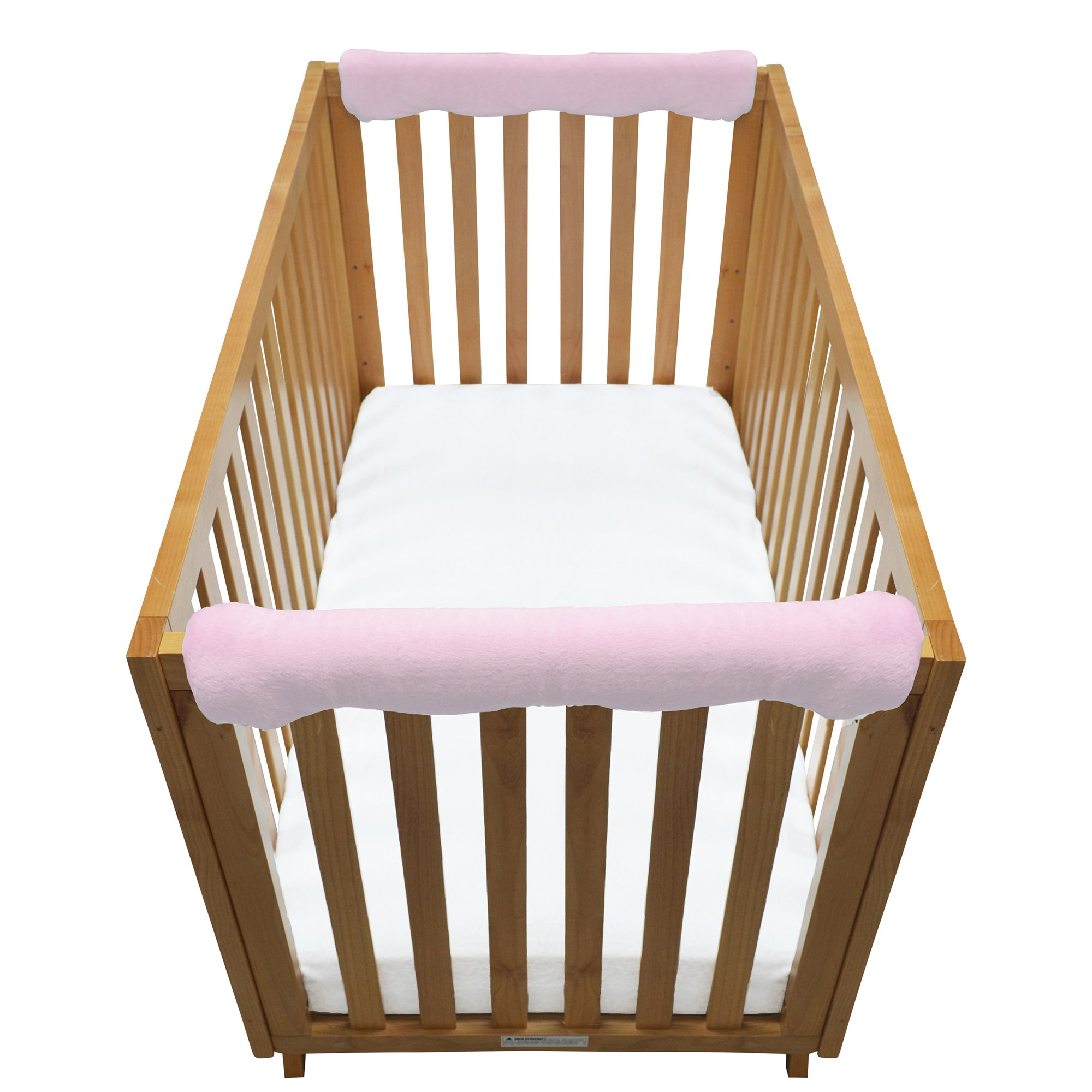 Go Mama Go Pure Safety Luxurious Teething Guard Set, Pink Minky