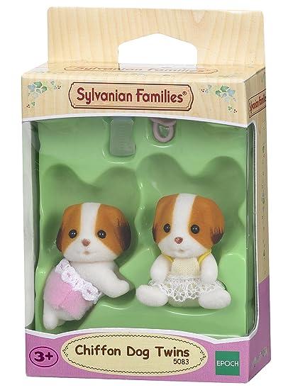 SYLVANIAN FAMILIES- Chiffon Dog Twins Mini muñecas y Accesorios, (Epoch para Imaginar 5083)