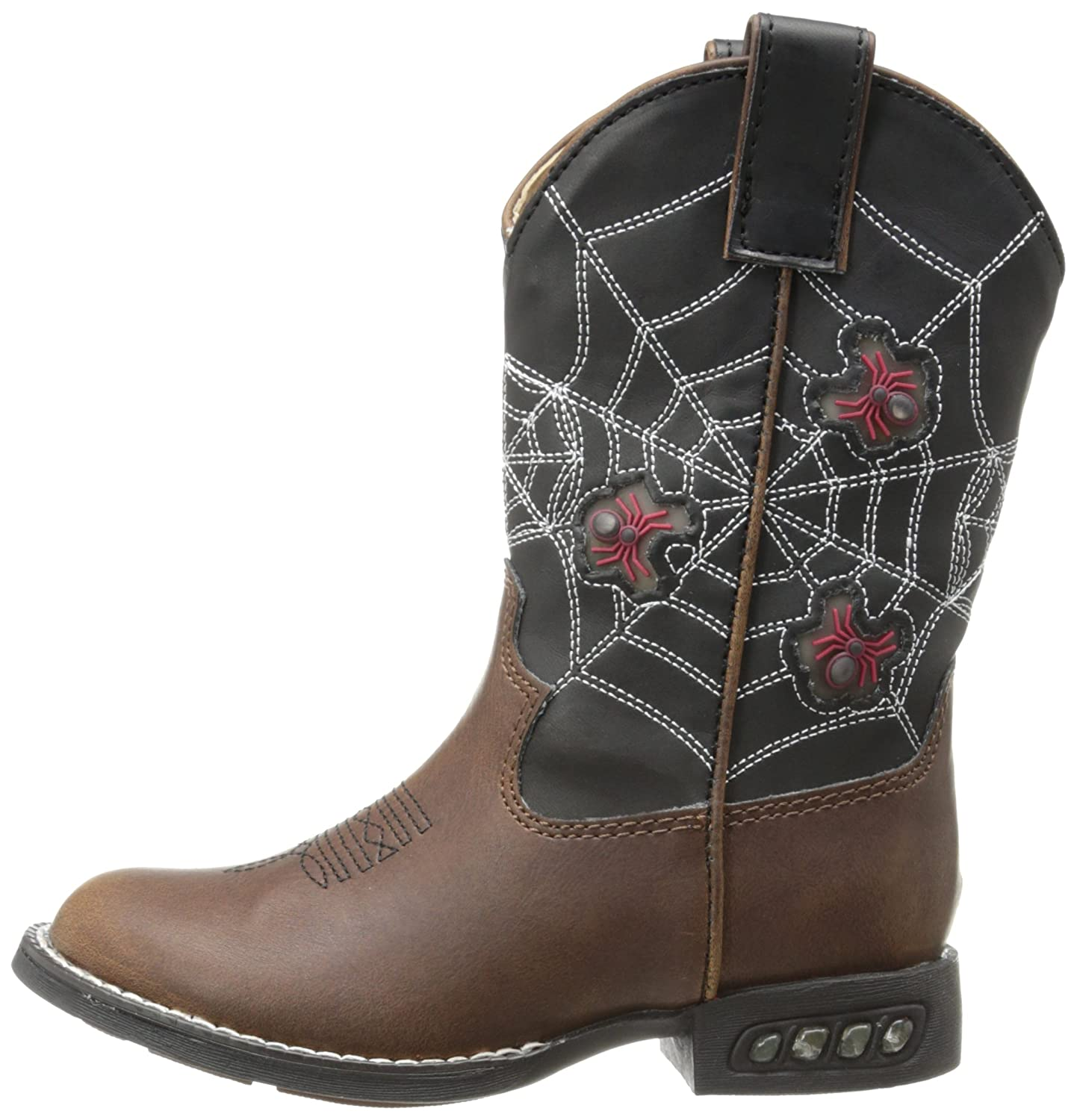 Toddler//Little Kid Roper Light Up Spiders Western Boot