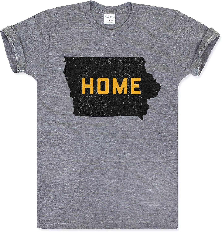 Charlie Hustle Unisex Vintage Grey Iowa Pride Home T-Shirt