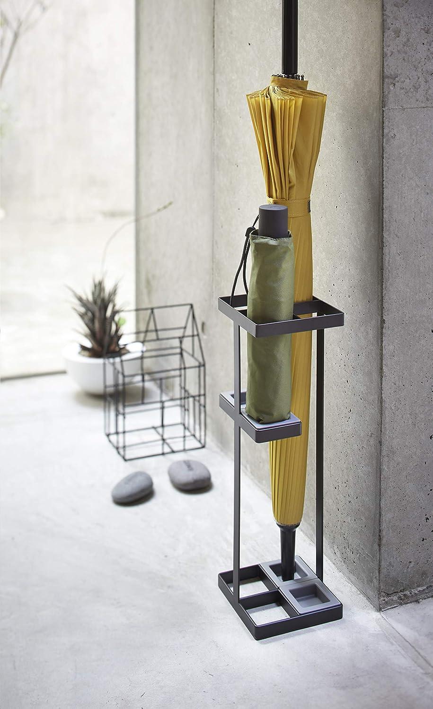 Acciaio Nero 11x11x36 cm yamazaki Umbrella Stand Portaombrelli