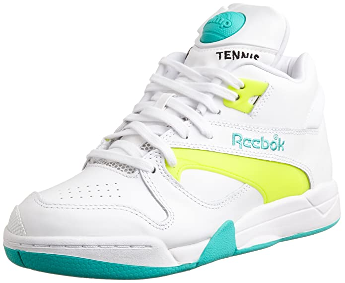 72f8d7fd0206 Reebok Classic Court Victory Pump White Yellow Unisex Sneakers