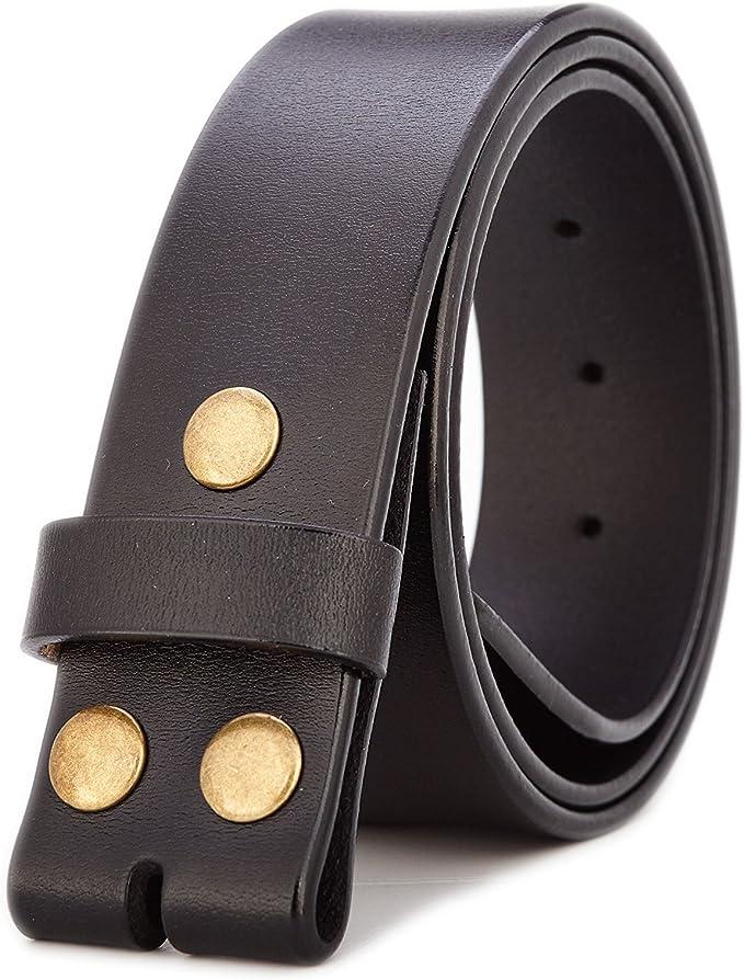 Amazon.com: Gurscour - Cinturón de piel auténtica para ...