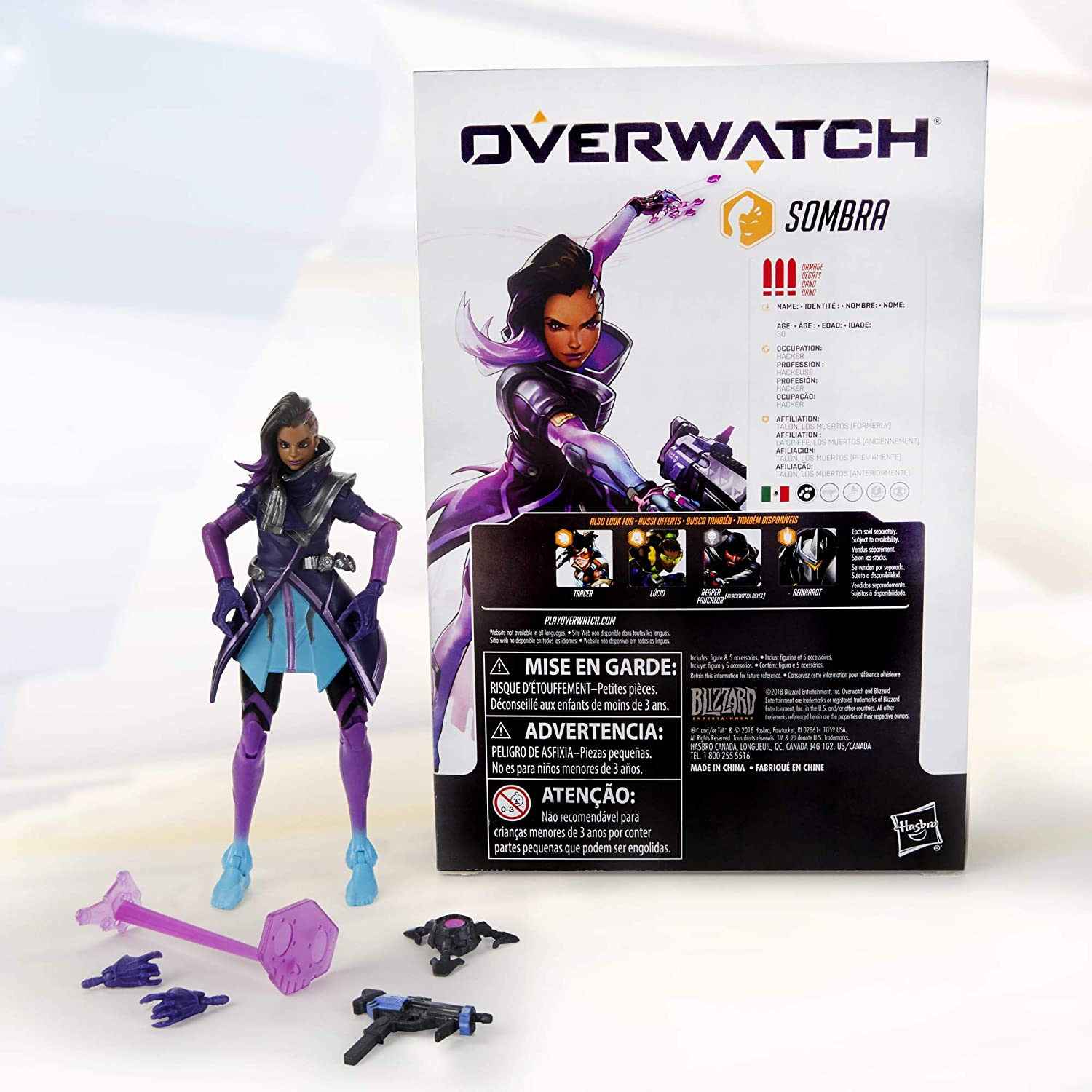 Hasbro Overwatch Ultimates Series Sombra 6 Collectible Action Figure