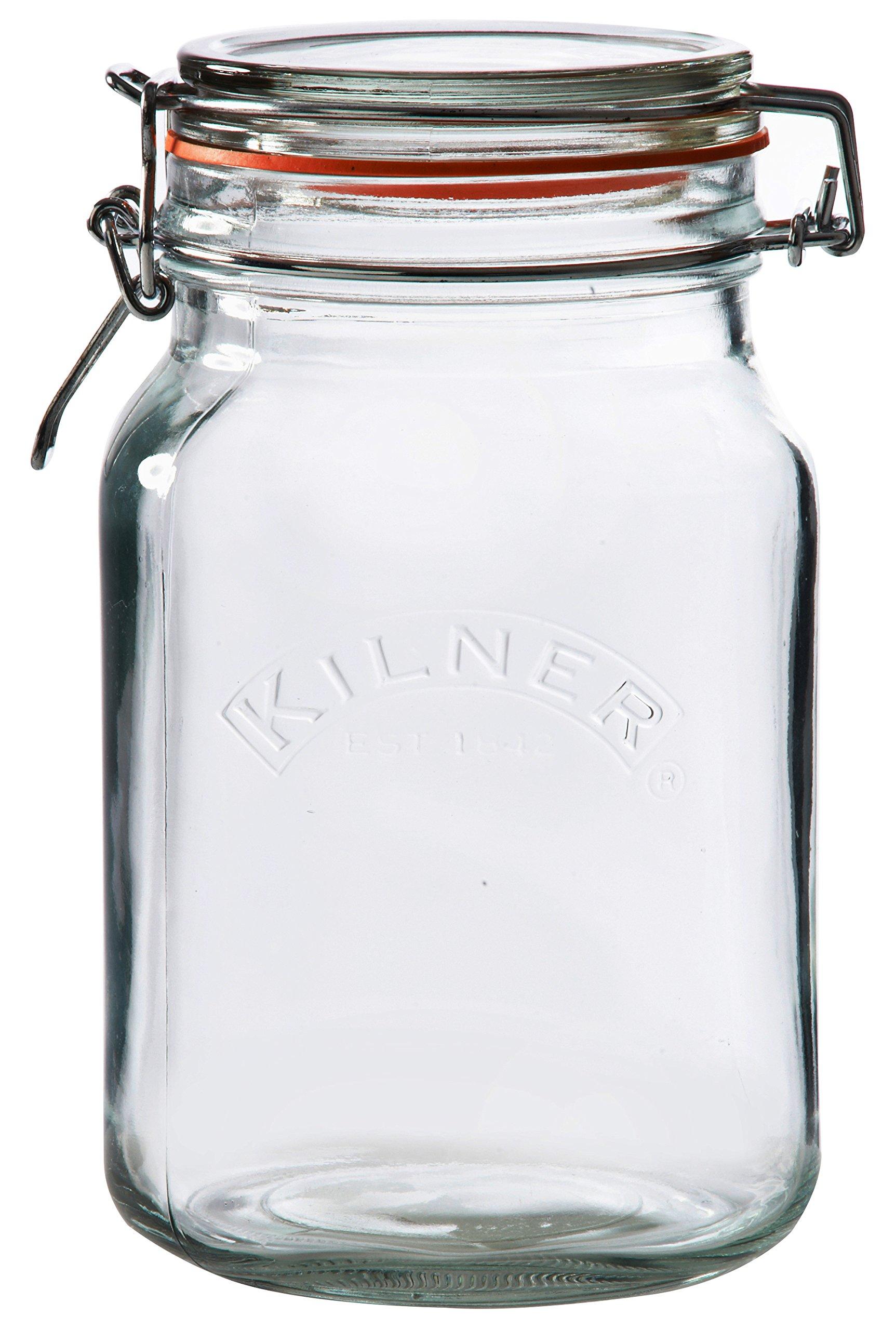 1.5l Kilner Square Clip Top Jar