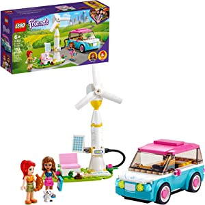 LEGO Friends Olivia's Electric Car 41443 Building Kit; Creative Gift for Kids; New Toy Inspires Modern Living Play, New 2021 (183 Pieces)
