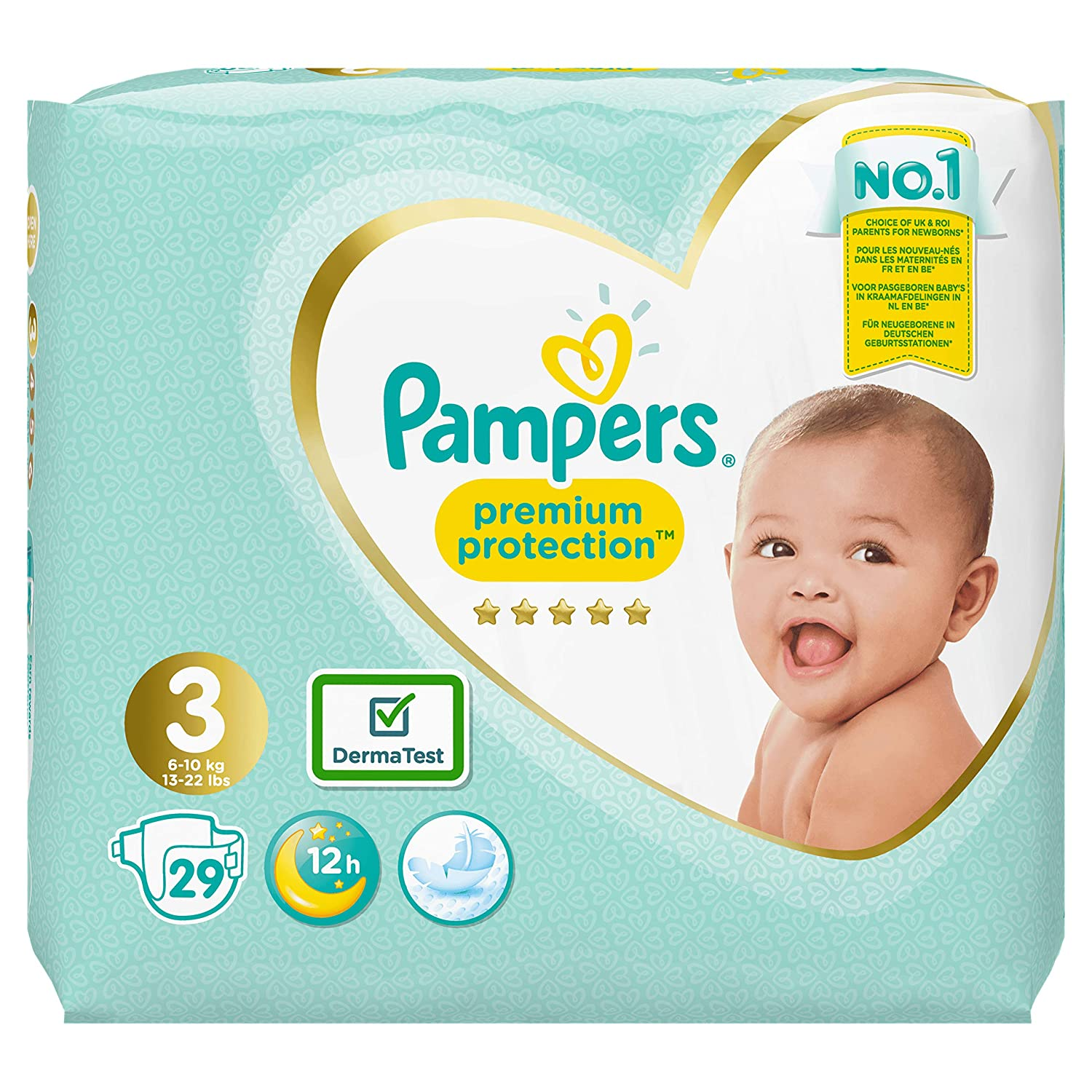 Pampers- Premium Protection Couches Taille 3 x29 couches 6-10 kg - Pack Small