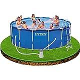 Intex 12–28236Métal Kit piscine Frame 457x 122cm, 3785Filtre à cartouche L/H, échelle, bâche de protection de sol/de de recouvrement