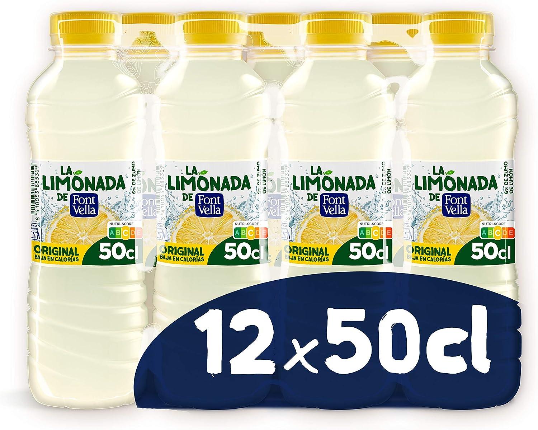 Limonada de Font Vella, Agua Mineral Natural con zumo de limón - Pack 12 x 50cl: Amazon.es: Alimentación y bebidas