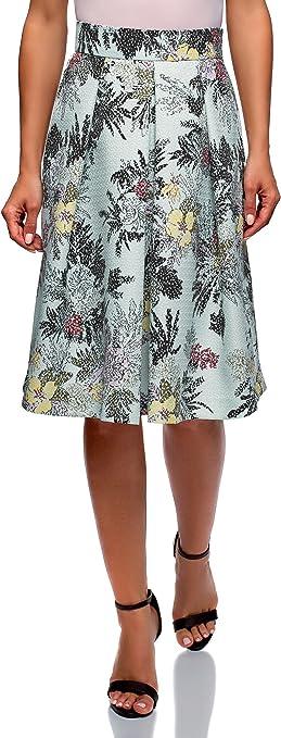 oodji Collection Mujer Falda Midi con Pliegues: Amazon.es: Ropa y ...