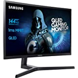 "Samsung LC24FG73FQUXEN Ecran PC QLED 24"" 1920 x 1080 1 ms HDMI/DP 16:9 Noir/Bleu Foncé Mat"