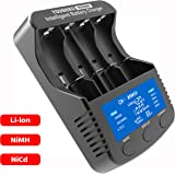 Youshiko YC6000 Professional Standard Super Fast Intelligent Battery Charger ( Official UK Version) for 3.7V Li-ion rechargeable batteries: 26650 22650 26500 18650 17670 18490 17500 17335 16340 (123A) 14500 10440 & 1.2V Ni-MH/CD rechargeable batteries :AAA , AA , SC , C, D & USB Port