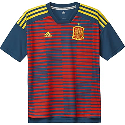 e5c2fd7a Image Unavailable. Image not available for. Color: adidas 2018-2019 Spain  Pre-Match Training Football Soccer T-Shirt Jersey (