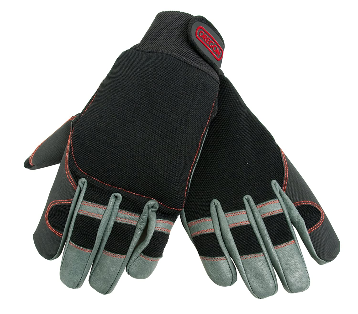OREGON 295395 XL 4 Way Stretch Leather Chainsaw Protective Glove