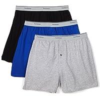 Fruit of the Loom Men's 3Pack Knit Boxer Shorts Boxers Cotton Underwear 2XL