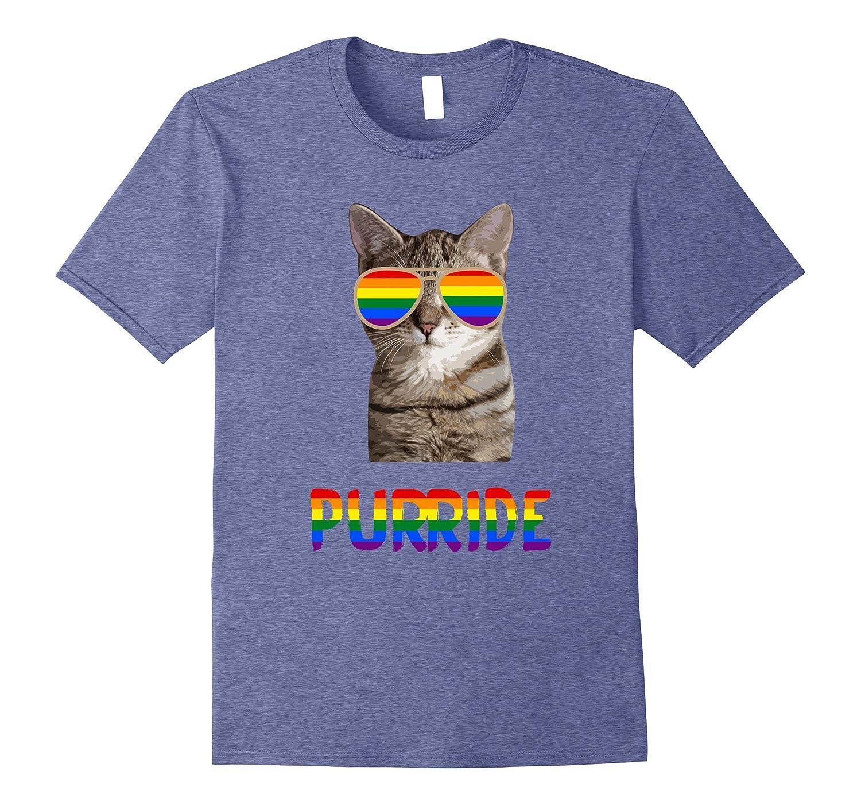 e75ecd07b6 Funny Cat Gay Pride T-Shirt LGBT Rainbow Sunglasses Funny-ANZ ...