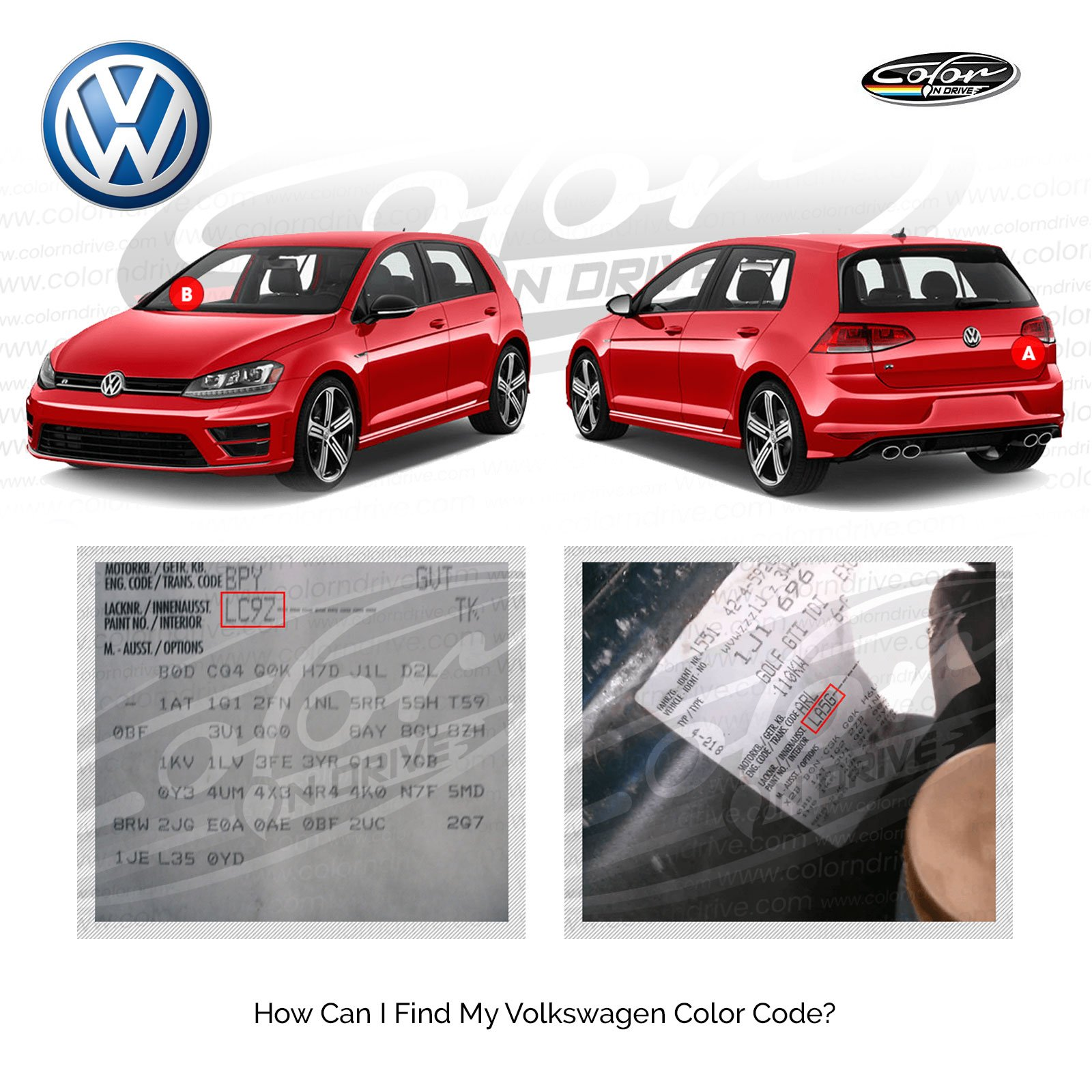 Volkswagen Polar White - L90A Touch Up Paint for Golf, Passat, GTI, Polo, Jetta, TIGUAN, Beetle and All Models Paint Scrath and Chips Repair Kit - OEM Quality, Exact Color Match - Pro Pack by Color N Drive (Image #2)