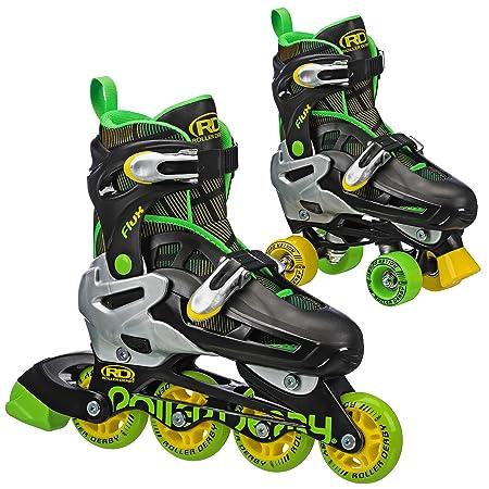 Roller Derby Flux Boys 2N1 Quad Roller Inline Skate Interchangeable Combo