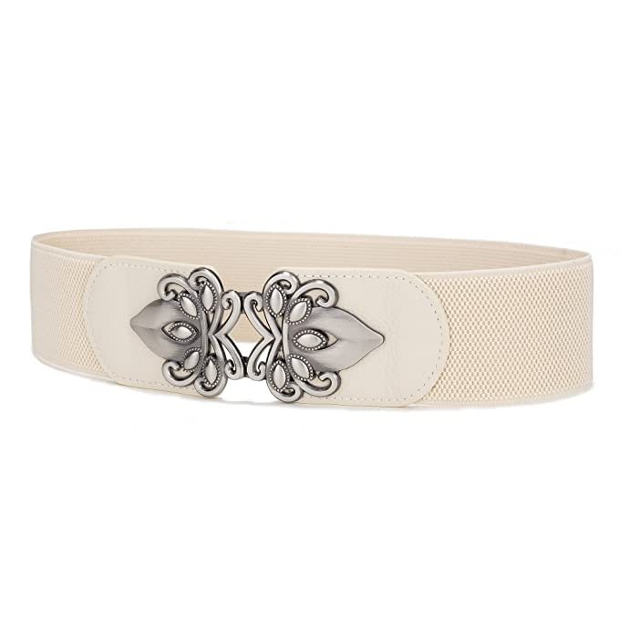 Vintage Wide Belts, Cinch Belts Viishow Women Vintage Wide Elastic Stretch Waist Belt Retro Cinch Belt $7.99 AT vintagedancer.com