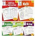 Scholastic Success With - Grade 2 Complete Set (5 Books): Addition&Subtraction 2, Math 2, Grammar 2, Reading Comprehension 2