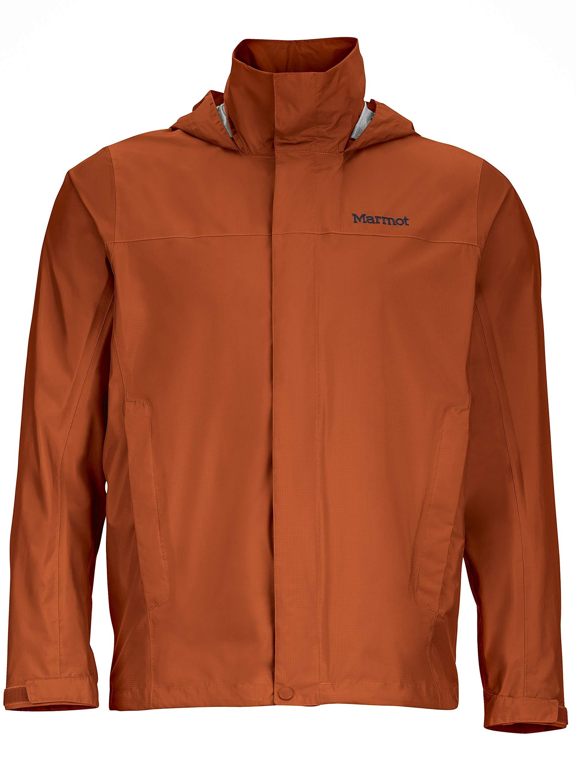 Marmot Men's PreCip Lightweight Waterproof Rain Jacket, Dark Rust, Small by Marmot