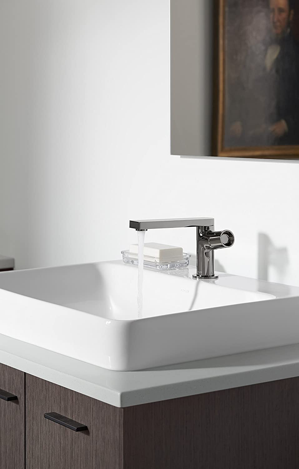 Bathroom sinks with options for everyone - Kohler K 2660 1 0 Vox Rectangle Vessel With Faucet Deck White Vessel Sinks Amazon Com