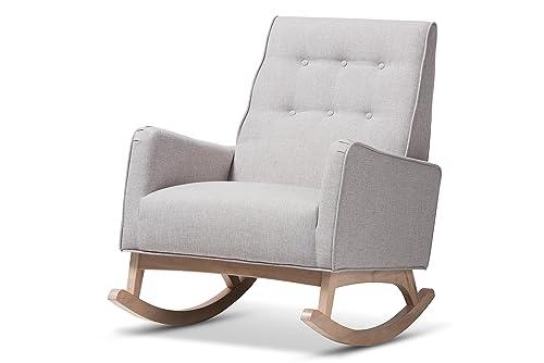 Baxton Studio Martine Rocking chair, Greyish Beige