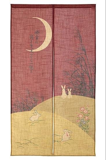 Made In Japan Noren Curtain Tapestry Shiki No Tsuki(Moon)