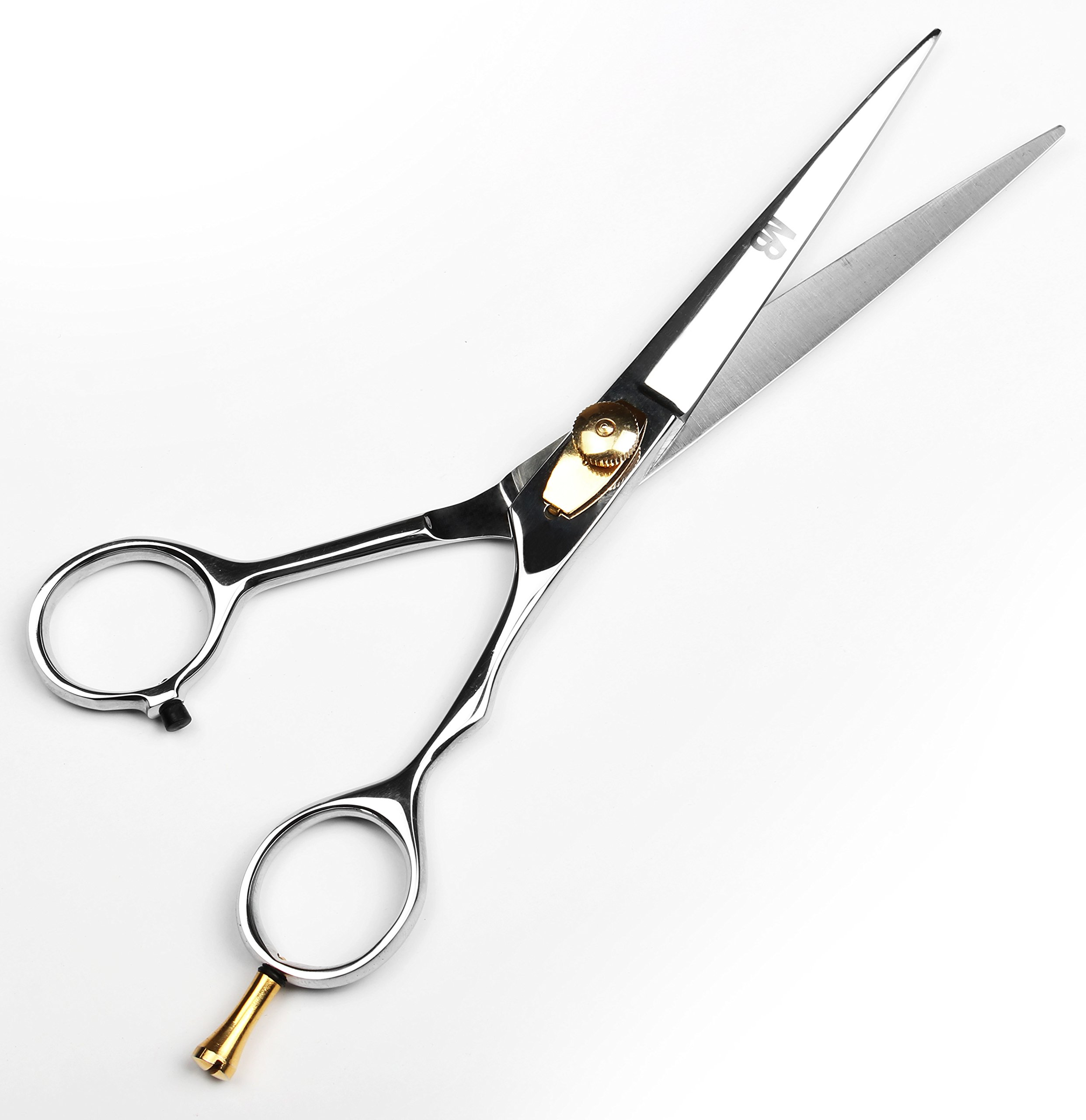Professional Barber Scissor 6.5 Inch Razor Edge Blade Rust Free Stainless Steel Chrome Plated Shears For Smooth Cutting - Easy Grip Hairdressing Cosmetic Scissors by MB (Image #5)