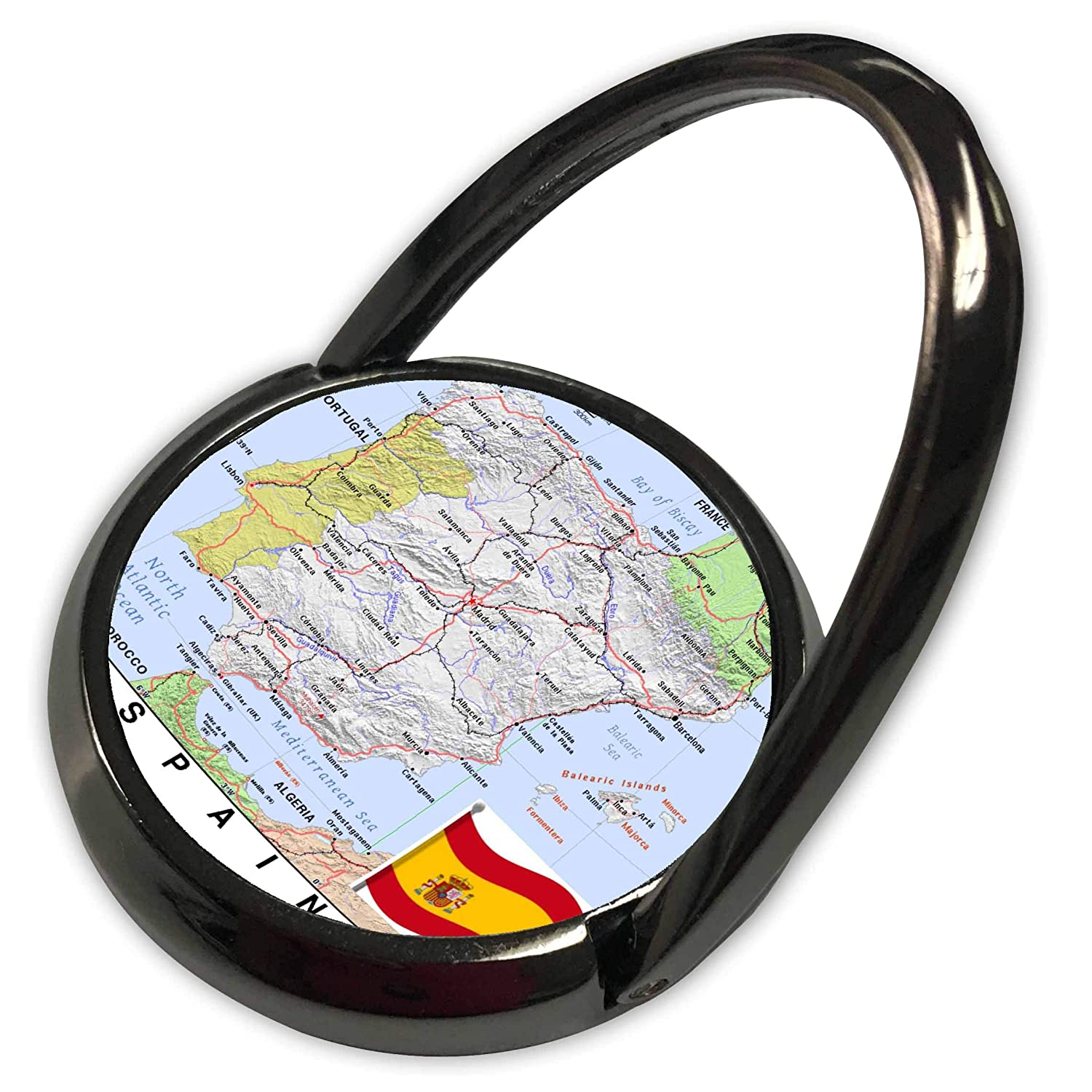 Amazon.com: 3dRose Lens Art by Florene - Topo Maps with Flags - Image of Topographic Map of Spain with Flag - Phone Ring (phr_299568_1): Electronics
