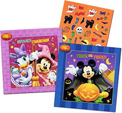 - Amazon.com: Disney Mickey Mouse And Minnie Mouse Halloween Board Book Set  For Kids Toddlers With Halloween Stickers(Set Of 2 Small Board Books): Toys  & Games