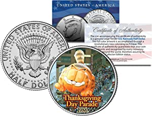 GARFIELD BALLOON 1986 THANKSGIVING PARADE Colorized Kennedy Half Dollar