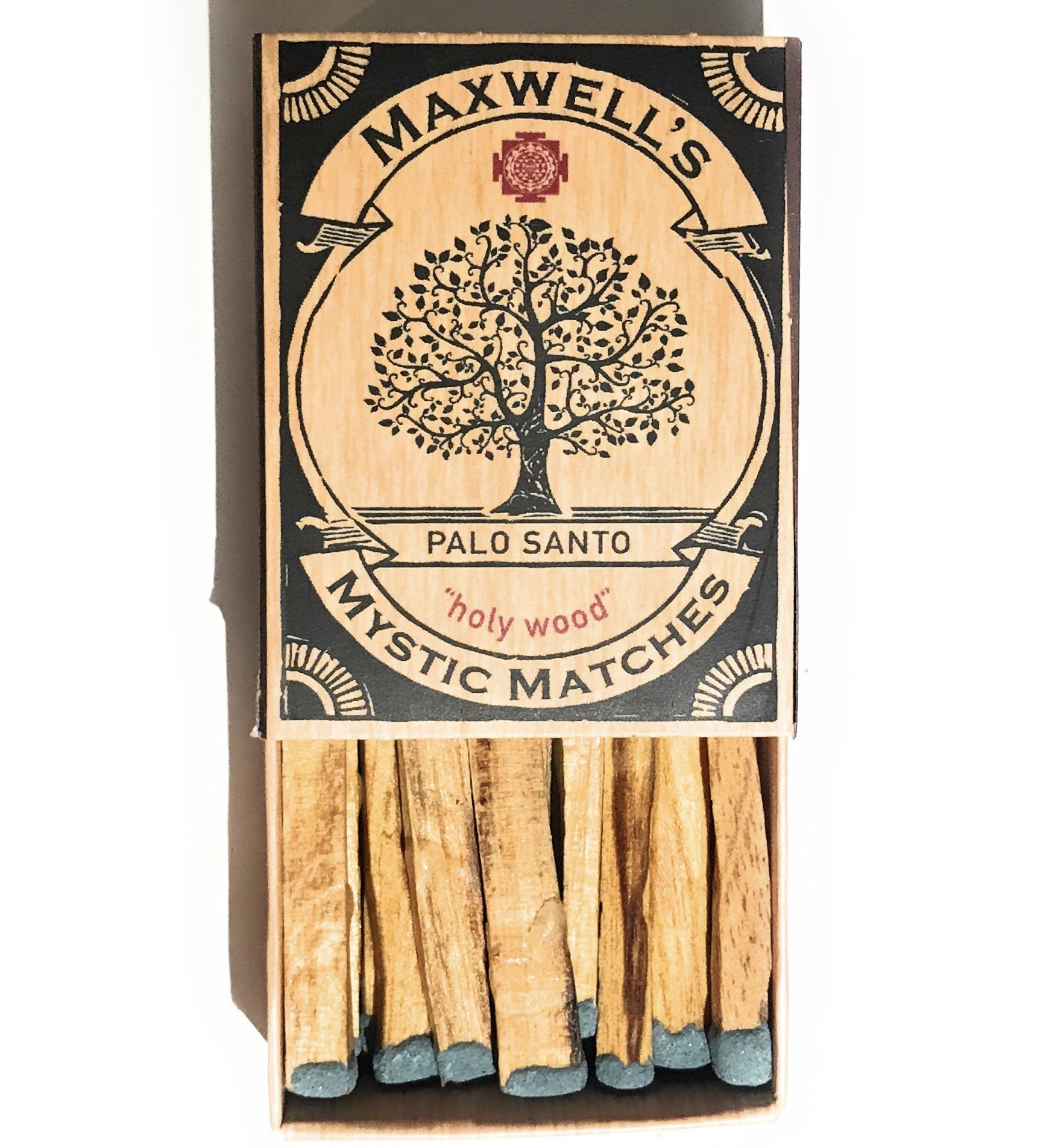 6 pack Palo Santo Incense Match Sticks | Peruvian ''Holy Wood'' Large Palo Santo Wood Sticks ● Smudging, Energy Clearing, Stress Relief, Relaxation, Healing, Meditation from Peru by Maxwell's Mystic Matches (Image #5)