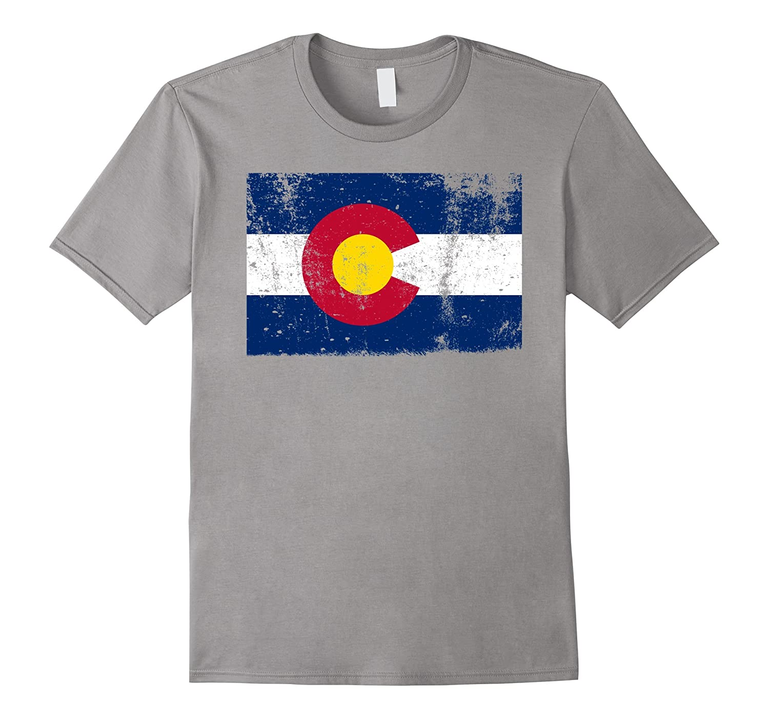 Colorado State Flag T-Shirt Distressed Fun Vintage Retro-PL