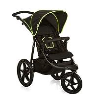 Hauck/ Runner/ passeggino a 3 ruote/ con posizione nanna/ pieghevole compatto/ ruote gonfiabili/ da 0 mesi fino a 25 kg/ Black Neon Yellow (Nero Giallo)