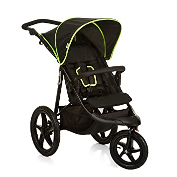 Hauck Runner Jogger Style 3 Wheeler Pushchair With Extra Large Air Wheels Foldable Buggy For Children From Birth To 25 Kg Lying Position