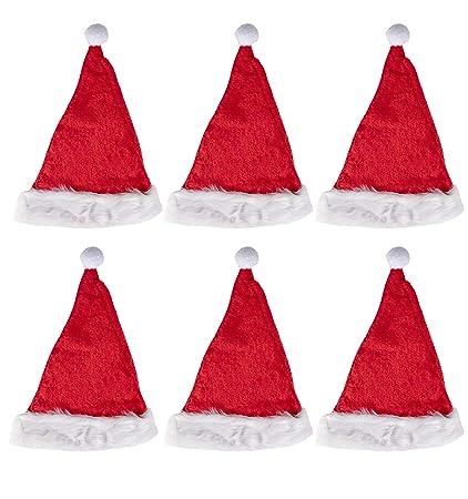 0c1361ca024 Amazon.com  Classic Santa Claus Hats - 6-Pack Christmas Party Hats ...