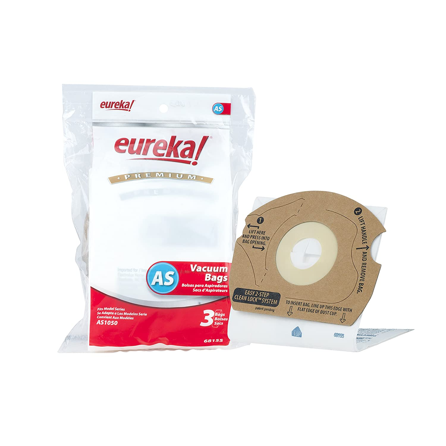 Genuine Eureka AS Premium Filtration Vacuum Bag 68155 - 3 bags