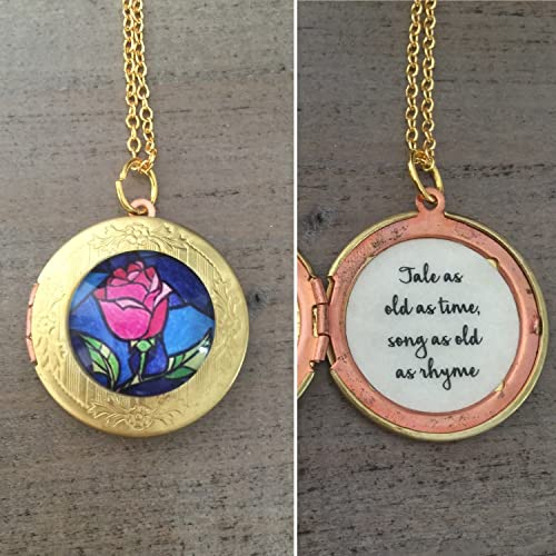 Amazoncom Beauty And The Beast Necklace Tale As Old As Time