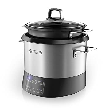 BLACK+DECKER RCR520S All In One Cooking Pot, 20 Cup Cooked