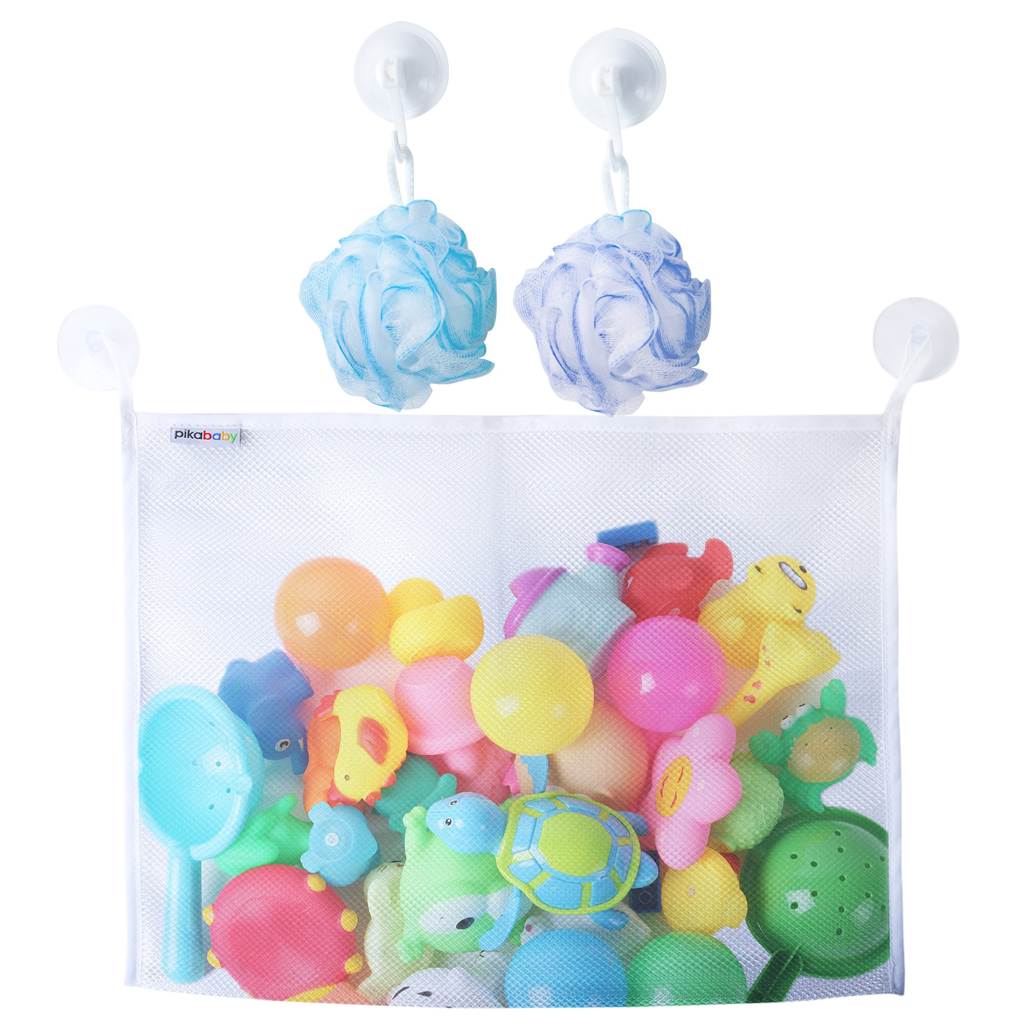 Baby Bath Toys Organizer Quality Mesh Bag Basket For Toys and ...