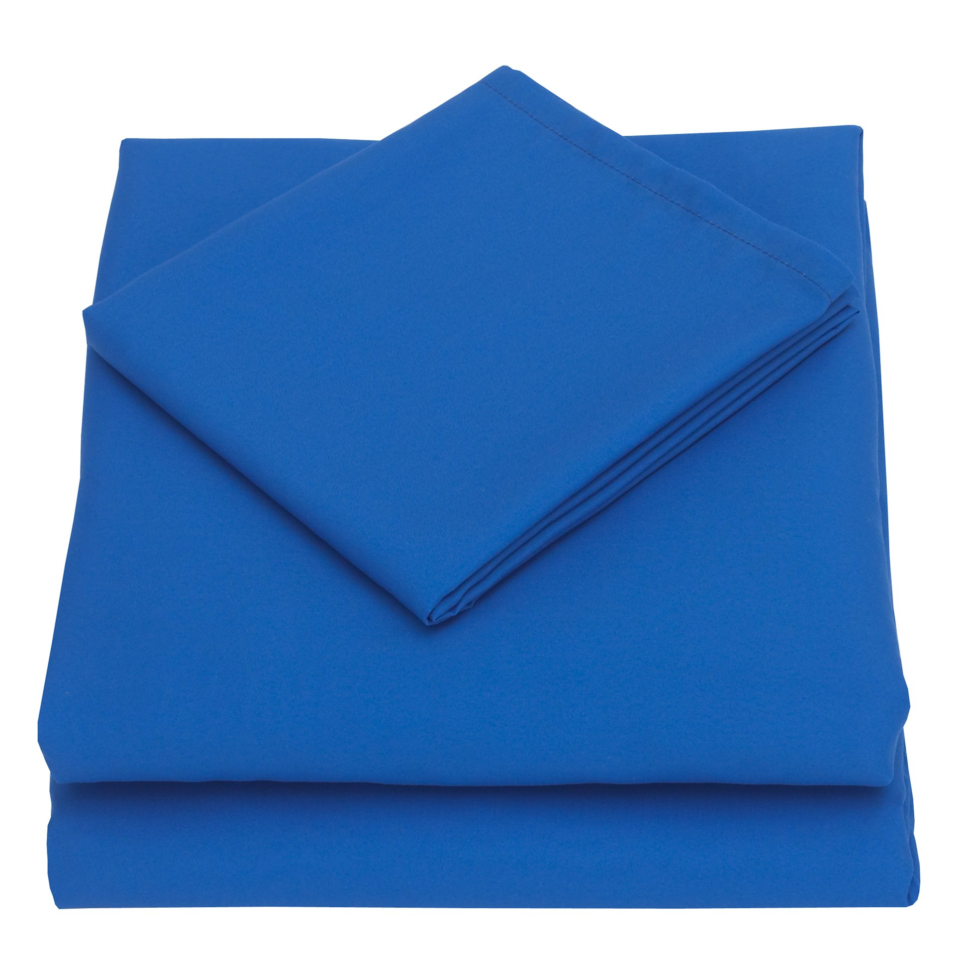 NoJo 3-Piece Toddler Sheet Set, Blue, 52'' x 28''