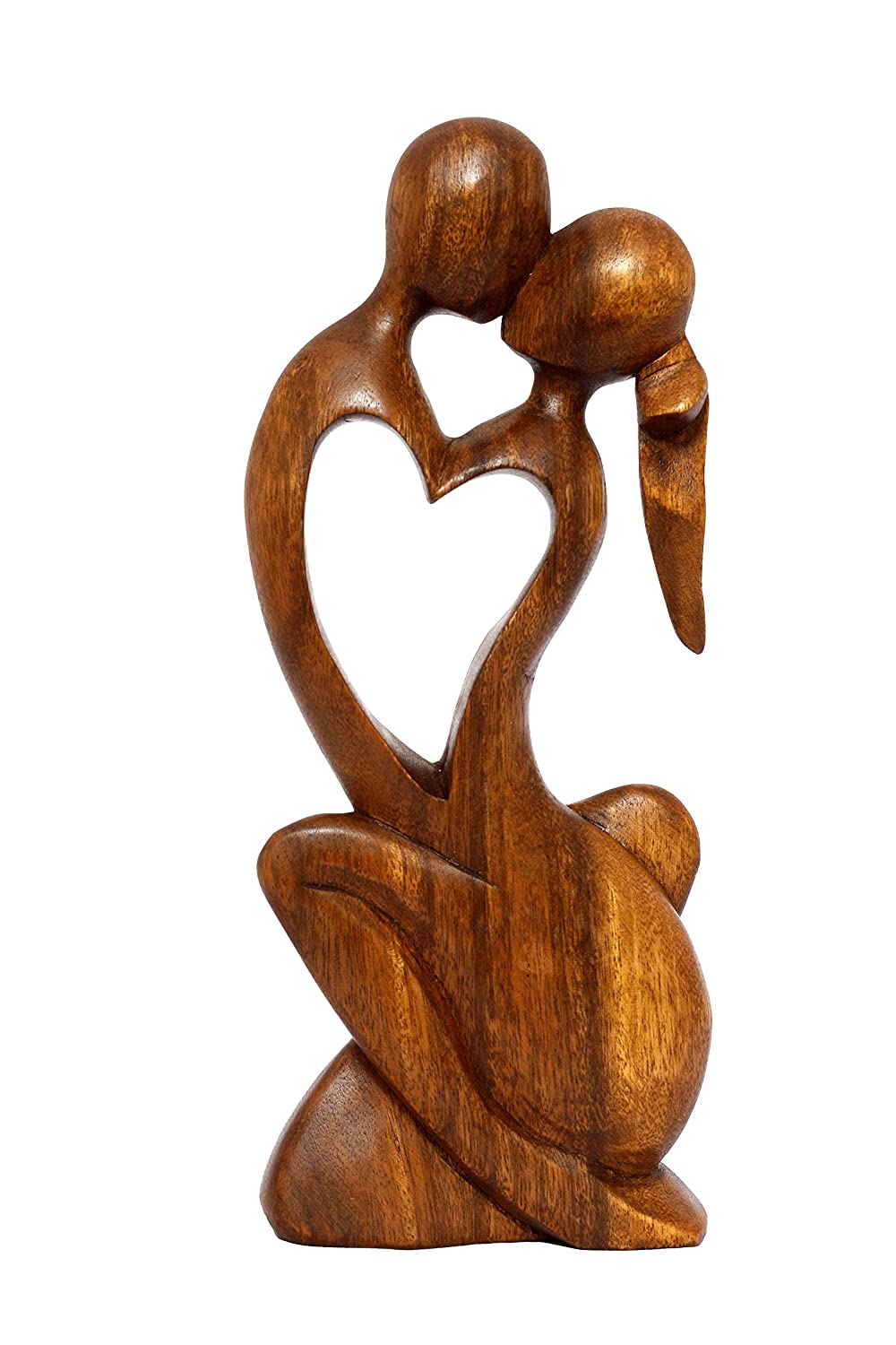 "G6 Collection 12"" Wooden Handmade Abstract Sculpture Statue Handcrafted - Endless Love - Gift Art Decorative Home Decor Figurine Accent Decoration Artwork Handcarved Endless Love"