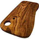 "Carved Kitchen Handmade Rustic Olive Wood Chopping Cutting Board - Medium 13"" (35cm) (Medium)"