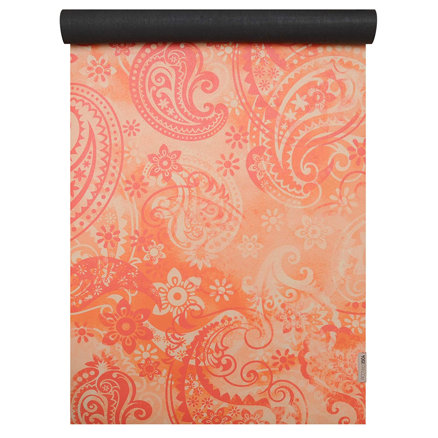 YOGISTAR Yogamatte travel art collection paisley Orange-ROT