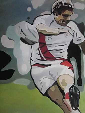 England Rugby Wilkinson  30x20 Oil Painting,NOT a print  poster framing avail.