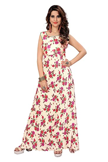 5c00f1f835 Active Feel Free Life Women's Anarkali Readymade Gown Japani Satin Fabric  (Readymade Gown)