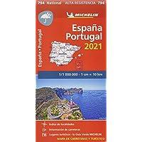 "Mapa National España - Portugal 2021 ""Alta Resistencia"": Maps (Mapas National Michelin)"