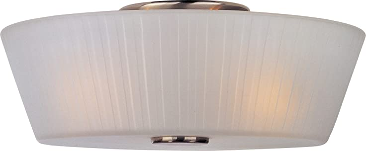 Maxim Lighting 21500FTSN Finesse 3-Light Flush Mount Satin Nickel Finish with Frosted Glass  sc 1 st  Amazon.com & Maxim Lighting 21500FTSN Finesse 3-Light Flush Mount Satin Nickel ... azcodes.com
